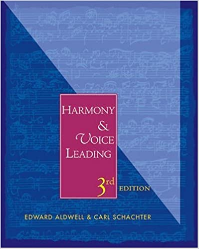 Harmony And Voice Leading Edward Aldwell Carl Schachter 9780155062429 Amazon Books