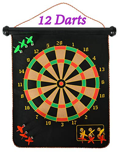 MrSunshine Magnetic Dart Board for Kids and Adults, 12 Magnetic Darts, Excellent Choice for Kids Party Games, Popular Birthday Gift for Boys and Girls, Children Safe Magnetic Dartboard Game Set