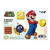 Super Mario, 6 Pack, Mario Tech Decals, Waterproof