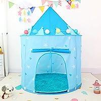 Flickor lektält stora barn lekhus med stjärnor och blommor pojkar lekstuga leksak för inomhus- och utomhusspel 130 cm x…
