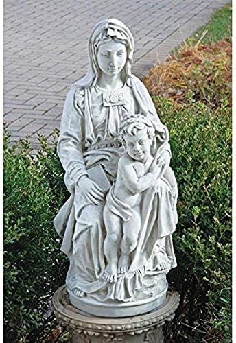 Design Toscano KY1443 Madonna of Bruges Statue: 1504,antique stone