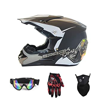Casco bicicleta de montaña casco casco de motocross con máscara ...