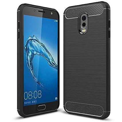 Funda Samsung Galaxy J7 plus 2017/2018 transparente,COOKAR Funda protectora ultra delgada de silicona para la carcasa del Samsung J7 plus 2017/2018 ...