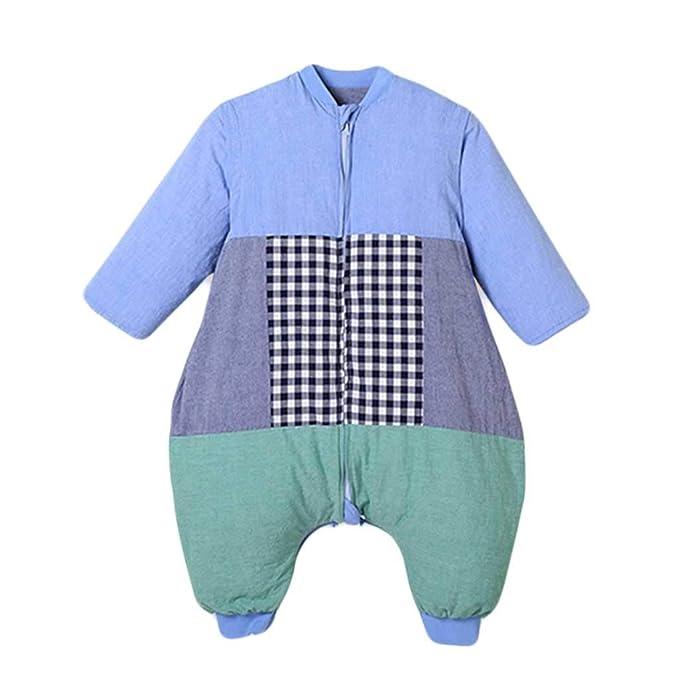 Vicheng Saco de Dormir para bebés, algodón ergonómico Espesar Saco de Dormir para niños Pijamas para niños Cremallera Desmontable de Dos vías para Cuatro ...