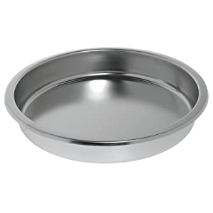 HUBERT Induction Chafer Pan 6 1/3 Quart Round Stainless Steel - 15 1/4 Dia x 2 1/2 D