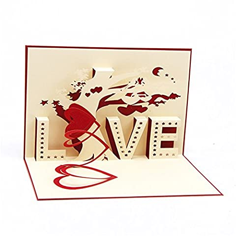 Pop Up Handmade Valentine's Day Greetings Card for Husband - Golden Retriever Wrapping Paper