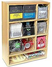 I Love My Kitchen Tea Bag OrganizerTea Organizer Box and Tea Storage Caddy - Tea Bag Holder & Tea Storage Containers with Drawers
