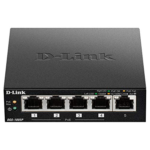 D-Link Systems 5-Port Gigabit Unmanaged Switch with 4 POE Po