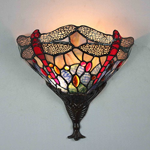 FixtureDisplays Tiffany Style Wall Sconces Fixture Light Hall Bedroom Lamp - Canada Tiffany
