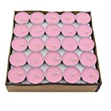 Salome Idea 50 PCS Tealight Candles, Decorative Candle for Wedding, Birthdays and all other Decorative Events (Pink)