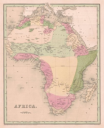 Historic Map | 1841 Africa | Bradford, T.G. and S.G. ()