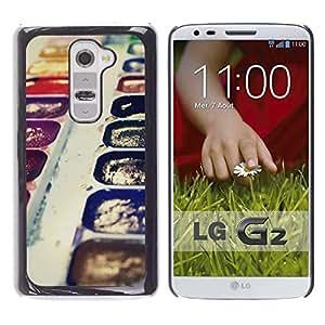 // CIUDAD ACTUAL MECELL // SmartPhone funda carcasa de policarbonato de plástico fresco imagen para LG G2 /// Arte pintura dibujo acuarelasy purpura Kit ///