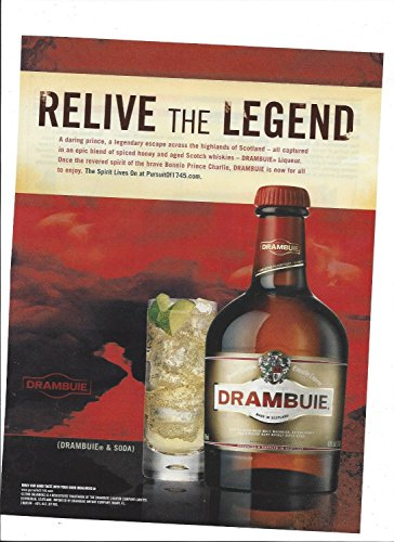 MAGAZINE ADVERTISEMENT For 2008 Drambuie Alcohol: Relive The Legend