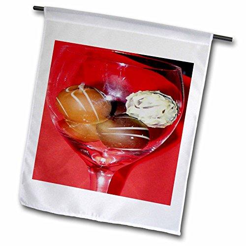 3dRose Sandy Mertens Chocolate Designs - Glass of Chocolate Truffles - 12 x 18 inch Garden Flag (fl_6013_1) ()