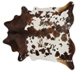 Cowhide Rug Tricolor Cow Hide Skin Leather Area Rugs XL 7 ft x 6 ft eCowhides Hide Rugs