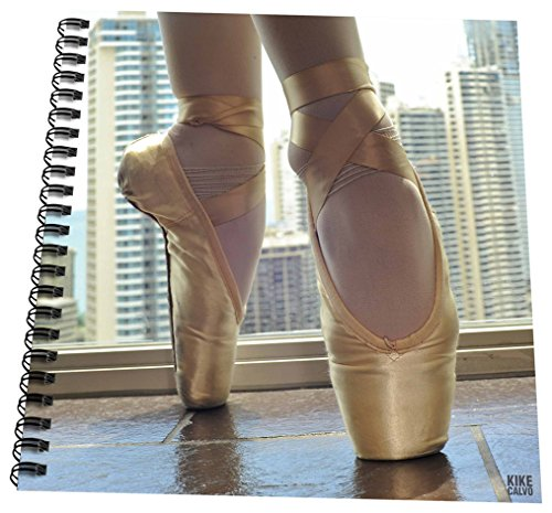 Pastel Ballet Shoes (3dRose db_9997_3 Detail of a pair of ballet shoes-Mini Notepad, 4 by 4