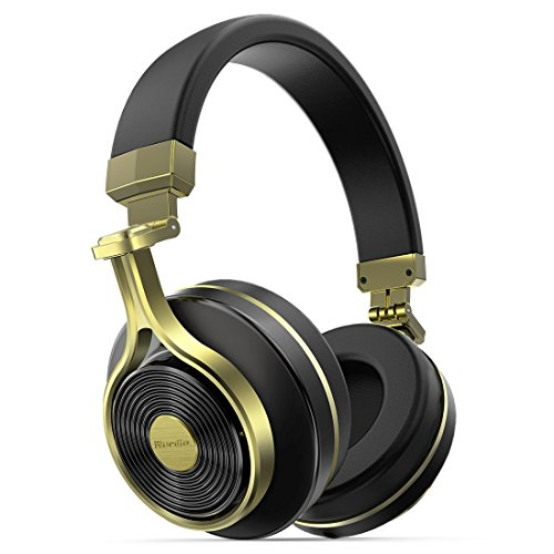 T3 Turbine (NEW Fashion Bluedio T3(Turbine 3rd) Bluetooth4.1 3D stereo sound effect Headsets Wireless Headphone with Mic, 57mm Drivers/Rotary Folding Micro-USB charging for iPhone/android (Gold))