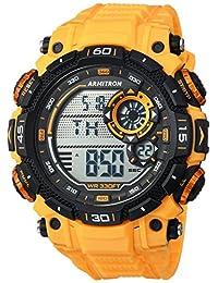Armitron Sport 40/8397YLW Men's Resin Strap Watch, Digital Chronograph, Yellow