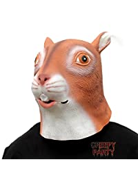 CreepyParty Deluxe Novelty Halloween Costume Party Latex Animal Head Mask Squirrel