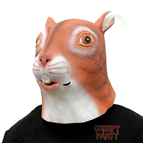 Mask Squirrel (CreepyParty Deluxe Novelty Halloween Costume Party Latex Animal Head Mask)