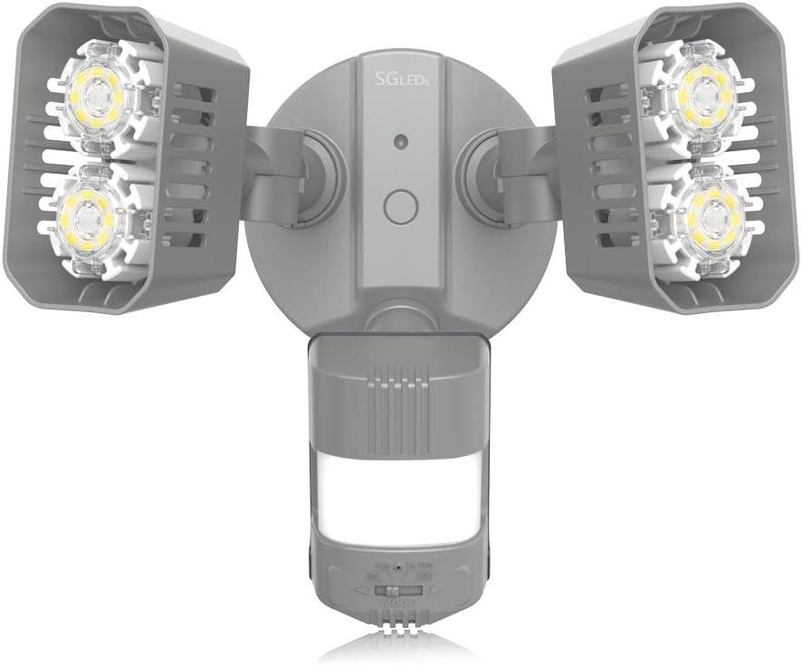 SGLEDS 18W 150W Equivalent Light , ETL Listed, Dusk to Dawn Security Lights, 1800lm LED Motion Sensor Lights, 5000K Outdoor Flood Lights
