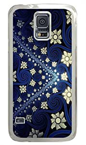 Flowers And Swirls PC Case Cover for Samsung S5 and Samsung Galaxy S5 Transparent