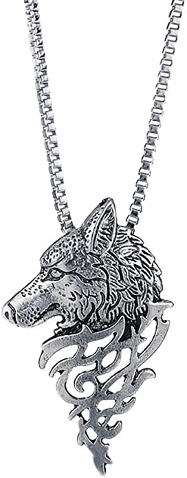 Sterling Silver Mens Unisex 1.5mm Box Chain Coyote Wolf Howling At The Full Moon Pendant Necklace