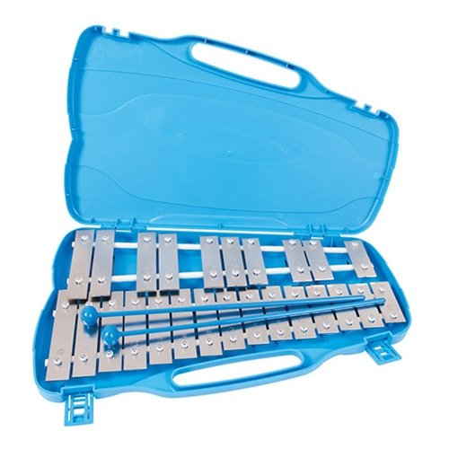 Performance Percussion G2-G4 25 Note Glockenspiel with Silver Keys by Performance Percussion