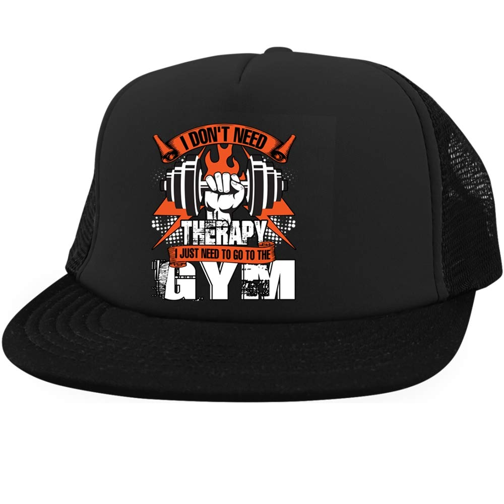 I Love Gym Cap, I Just Need to Go The Gym District Trucker Hat (District Trucker Hat - Black)