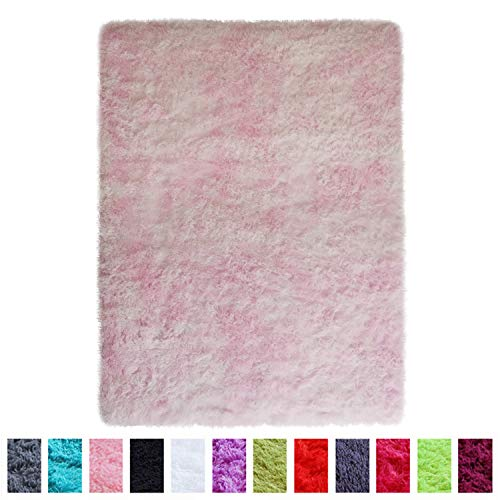 PAGISOFE Shaggy Colored Fluffy Area Rugs Carpets for Baby Nursery Teens Girls...