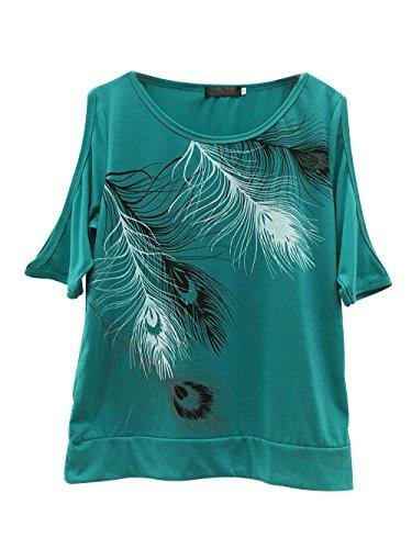 Camisetas Anchas Mujer Camiseta Camisas Para Damas Camisa Manga Corta Carta Estampadas Señora Verano Remeras Poleras de Mujer Tops Sin Tirantes Blusas Elegantes Blusa Fiesta Top Verde