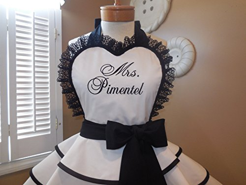 Mr. and Mrs. Bridal Apron Collection by MamaMadison Custom Aprons (Image #3)