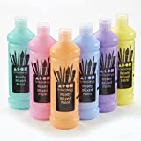 Brian Clegg - Ready Mixed Paint - Assorted Pastel Colours 6x600ml Assorted Pack