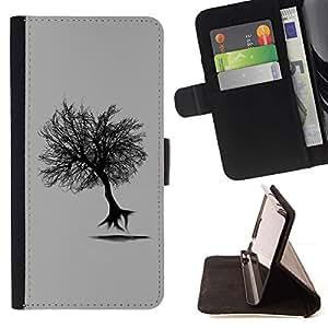 For Sony Xperia Z1 L39 Case , Árbol del vuelo- la tarjeta de Crédito Slots PU Funda de cuero Monedero caso cubierta de piel