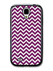 AMAF ? Accessories Chevron Pattern Purple case for Samsung Galaxy S4