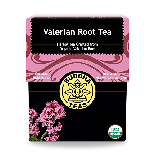 Organic Valerian Root Tea, 18 Bleach-Free Tea Bags - Caffeine Free Tea Supports Healthy Sleep Cycle, Eases Muscle Pain, and Calms the Body and Mind, No GMOs