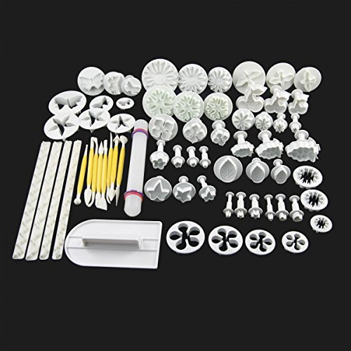 68-pcs-Cake-Decorating-Fondant-Plunger-Cutters-Tools-Mold-Cookies-Set from Unknown