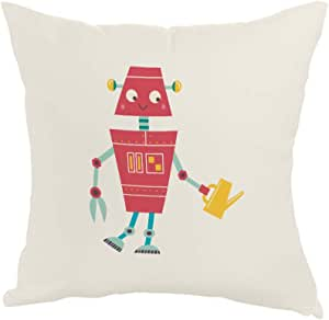 Printed Pillow, Fabric Canvas 40X40 cm, Caricature - Robot