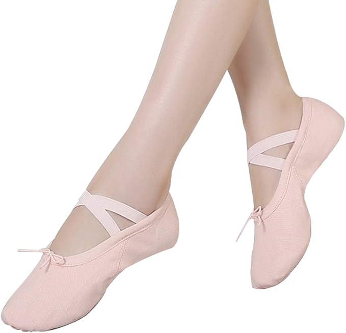 Amazon.com: Zapatillas de ballet zapatos de suela dividida ...