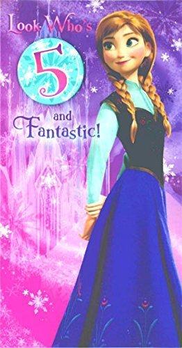 Disney Frozen Birthday Card 5 Years Amazon Office Products