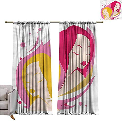 - zojihouse Zodiac Gemini Thermal Insulated Room Blackout Curtains 55