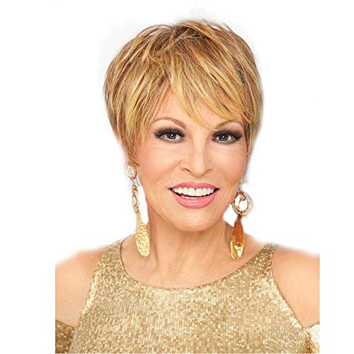 XJRHB Wigs European And American Ladies Fashion Realistic Fashion High Temperature Silk Gold Oblique Bangs Short Hair Headgear (Siren Wig Brown)