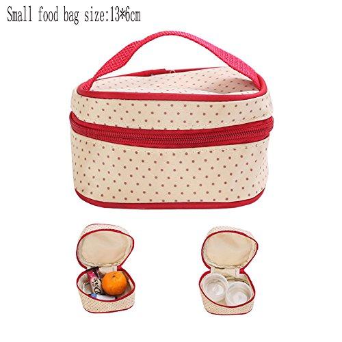 Multifuncional 5pcs Pañal de Bebé Mochila de Pañal Bolso Cambiador Totalizador de Momia Bolsa de Hombro Rojo