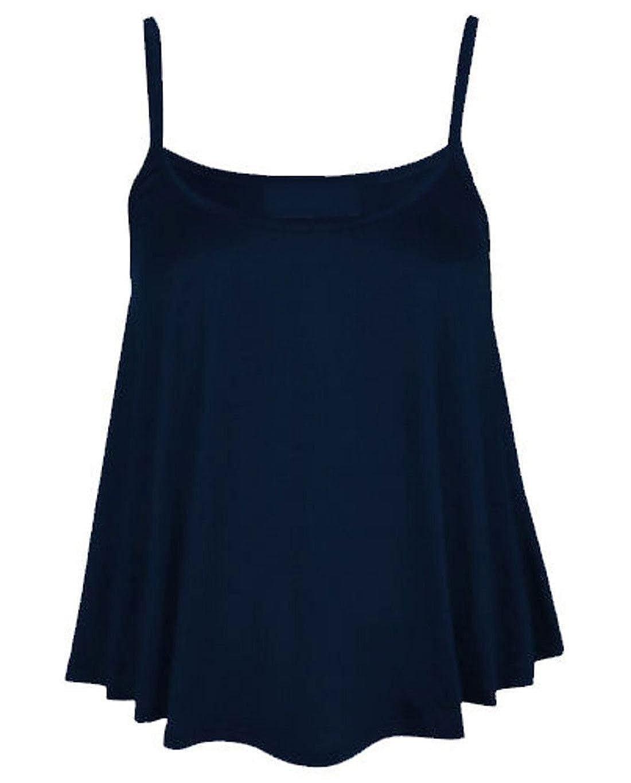 Womens Slim Strappy Swing Vest Top