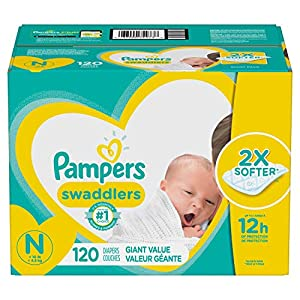 Diapers Newborn / Size 0 (< 10 lb), 120 Count - Pampers