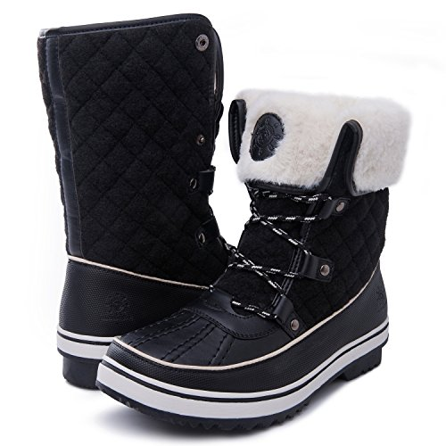 b2e725a737b0 Women s Globalwin 1632 Black Grey Snow Boots (11(M) US Women s ...