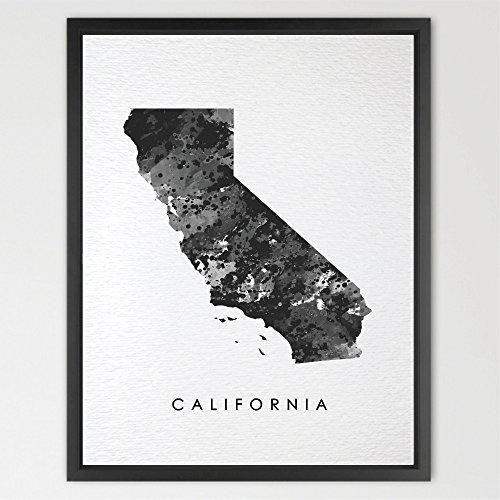 - Dignovel Studios 8X10 California Map USA States Map America Map print kids Watercolor Print Wall Art Poster Home Decor Kids Art Motivational Inspirational N176