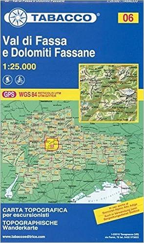 Val di Fassa e Dolomiti Fassane: Wanderkarte Tabacco 06. 1:25000 ...