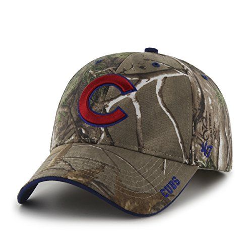 Chicago Cubs Mens Pattern - MLB Chicago Cubs '47 Frost MVP Camo Adjustable Hat, One Size Fits Most, Realtree Camouflage