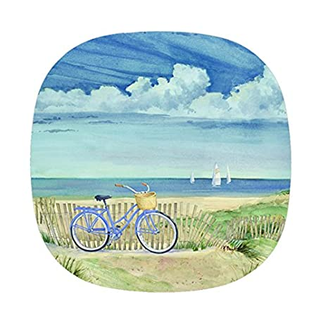 Melamine Plates Plastic Plates Dinner Plates Set of Four 10.5 inches Nautical Decor Seaside  sc 1 st  Amazon.com & Amazon.com | Melamine Plates Plastic Plates Dinner Plates Set of ...
